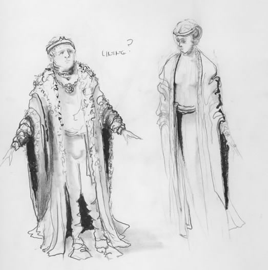 Costume Sketches: September 2008